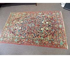 """Hand woven rug approx. 4' x 6"""""""