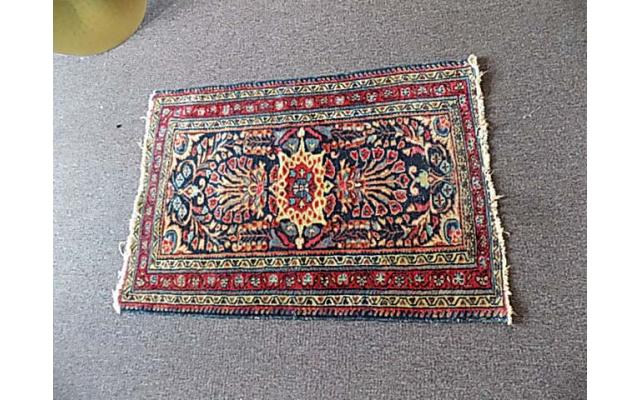 Hand Woven Rug approx. 2.5' x 3.5' - 1/2