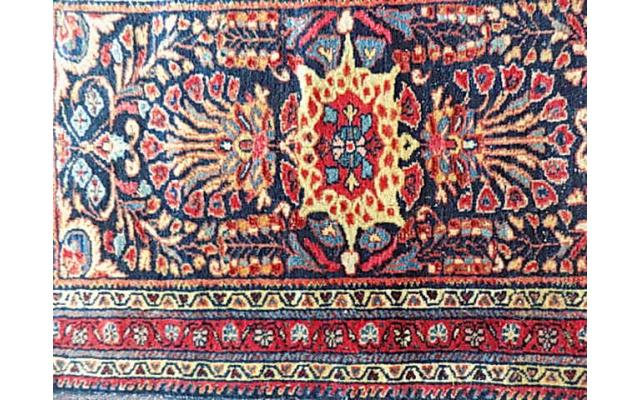 Hand Woven Rug approx. 2.5' x 3.5' - 2/2