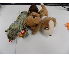 Vintage Beanie Babies Tracker, Scaly, and Tuffy