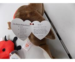 Vintage Beanie Babies Early, Flitter, Lucky and Nuts