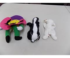 Lot of 2 Vintage Beanie Babies Fleece and Stinky